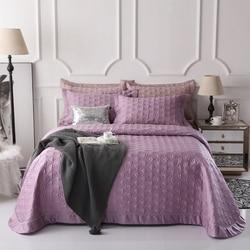 Luksusowe fioletowy szary niebieski 100% Tencel bawełna narzuta pikowana narzuta prześcieradło pościel koc letnia kołdra poszewki 3 sztuk|Narzuta|   -