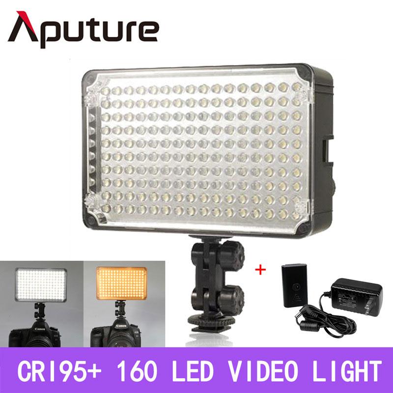 Prix pour Aputure amaran al-160 160 led lumière vidéo pour sony panasonic canon nikon dslr & caméscope caméras