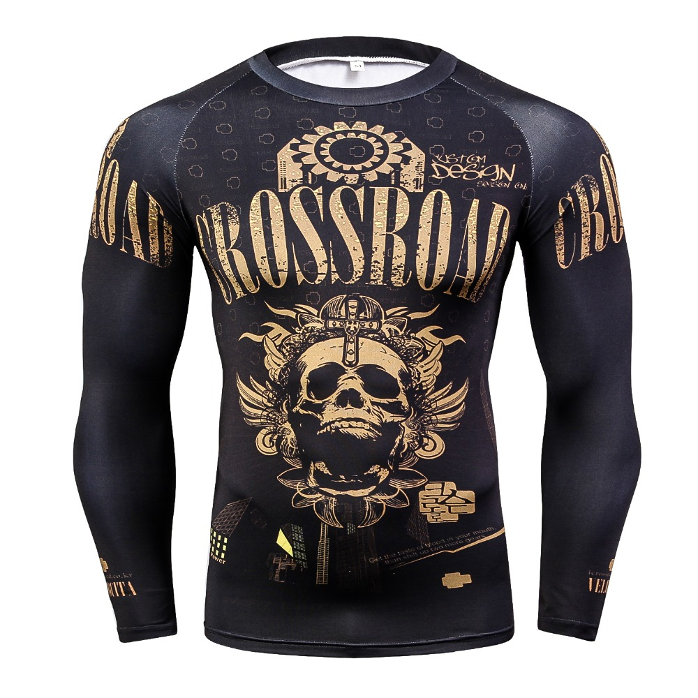 New Punisher Marvel Tight T Shirt Superhero 3D T-Shirt Fitness Clothing Men Tshirt Compression Bodybuilding Long Sleeve Shirt