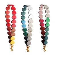 Color Shoulder Bag Strap Microfiber Leather Rainbow Wide Handbag Straps Replacement Adjustable Leather Strap Belt For Bag Handle