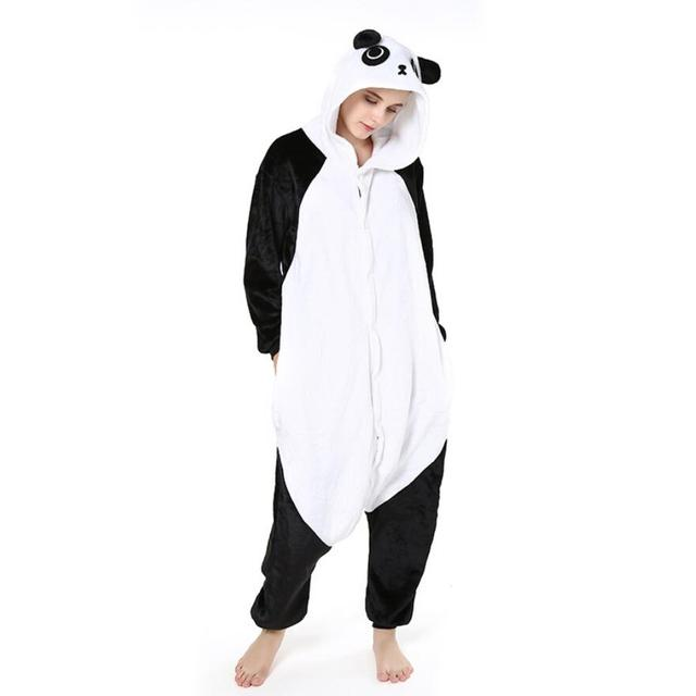 Us 16 94 23 Off Cute Unicorn Panda Animal Pajamas Homewear Pijama Cosplay Pijamas Unisex Adults Flannel Onesies Women Set Sleepwear Robe In Movie