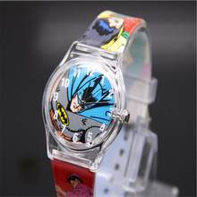 Sports Quartz Wrist Silicone Watch Plastic Hero Batman es High Quality Lovely Marvel Analog Snap Clock 2019 Hot Sale(China)
