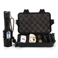Rechargeable USB Led Flashlight Cree Xm L2 Lanterna High Power Torch 3800 Lumen Zoomable Flash Light