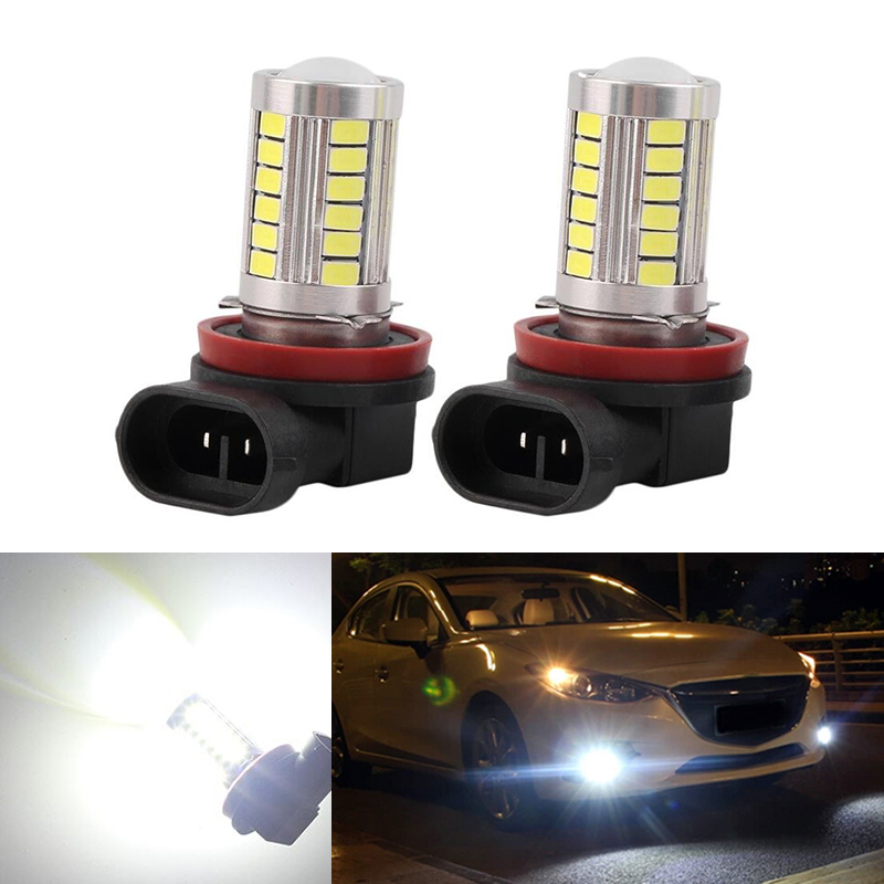 DOTAATDW 2x Super White <font><b>H8</b></font> H11 <font><b>CREE</b></font> Chip 5630 <font><b>LED</b></font> Fog Light Driving Bulbs For mazda 3 5 6 xc-5 cx-7 axela atenza image