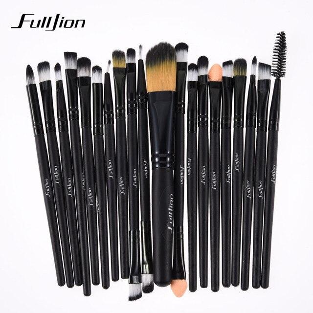 Fulljion 20 шт./компл. набор кистей для макияжа содержат Фонд корректор тени подводка для глаз для губ порошок щетки комплект Pro макияж инструменты