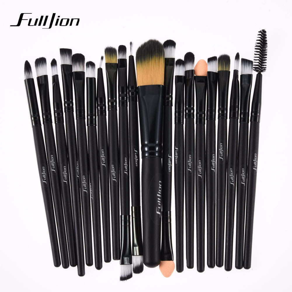 Fulljion 20pcs/set Makeup Brushes Set Contain Foundation Concealer Eye Shadow Eyeliner Lip Powder Brushes Kit Pro Makeup Tools
