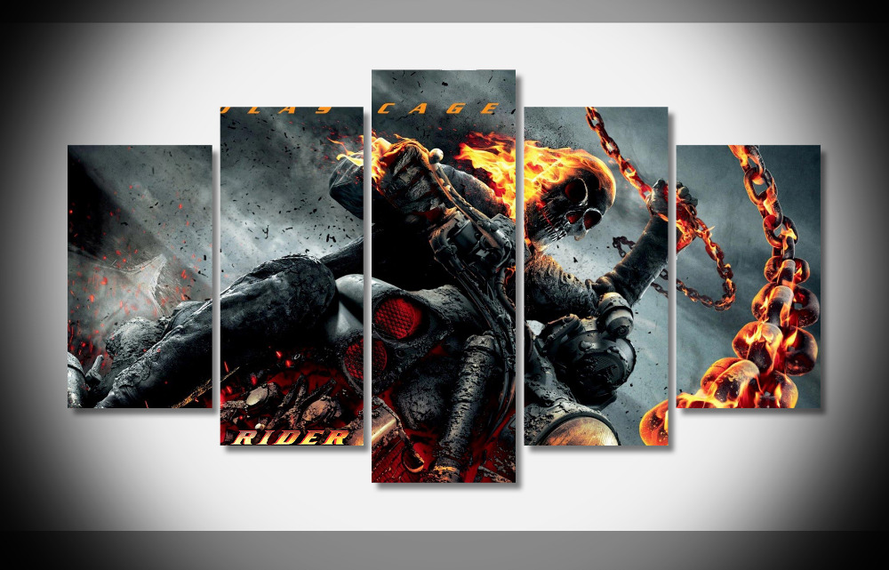 2715 ghost rider movie Poster Framed Gallery wrap art print home wall decor wall picture Already to hang digital print
