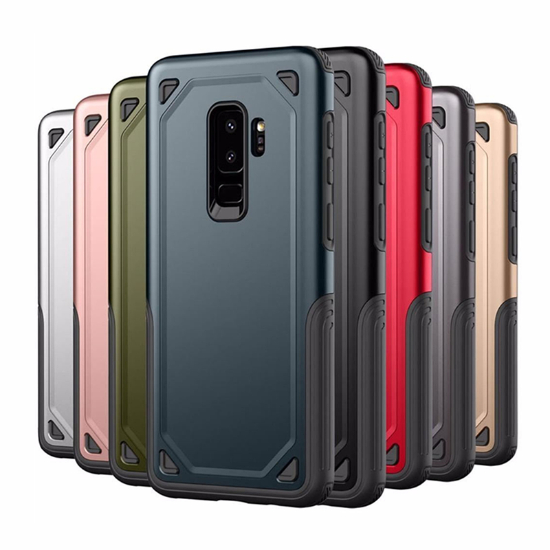 Military <font><b>Shockproof</b></font> Armor <font><b>Case</b></font> For <font><b>Samsung</b></font> Galaxy S10e <font><b>S9</b></font> S8 Note 10 Plus S7 edge J4 J6 A6 A8 2018 Slim Rugged PC Hard Cover image