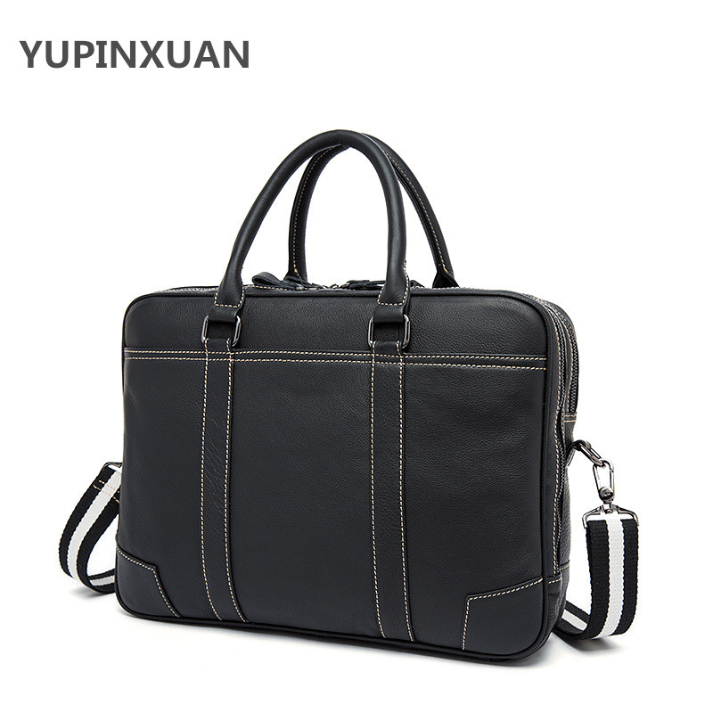 YUPINXUAN Fashion Classic Briefcases for Men Cow Leather Office Bag High Quality Business Handbags Male Leather Messenger Bags 247 classic leather
