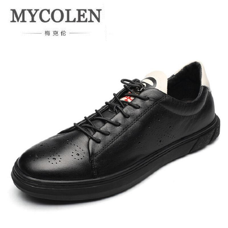 MYCOLEN New Fashion British Style Retro Classic Shoes Men Flat Heel Black Shoes High Quality Brand Casual Shoe sapatos masculino 2016 new summer british style men s driving shoes fashion casual shoes flat with low top 39 44 size