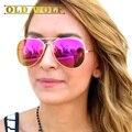 Clásico de Lujo Diseñador de la Marca gafas de Sol Mujeres Hombres Gafas de Sol Para Las Mujeres 2017 Piloto de Aviación Gafas de Sol Señora Sombras Masculinas Raysba