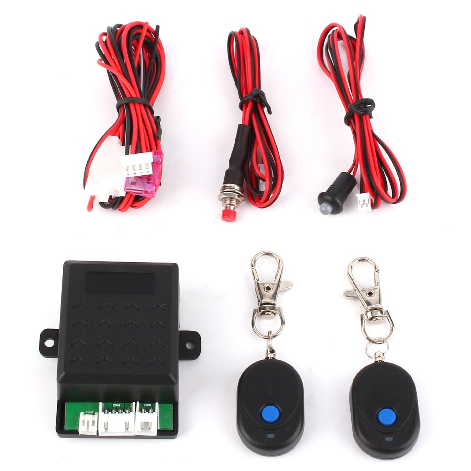 VGEBY Universal 12V Auto Car Alarm Immobilizer Anti Theft System 2 Remote Controller High Security