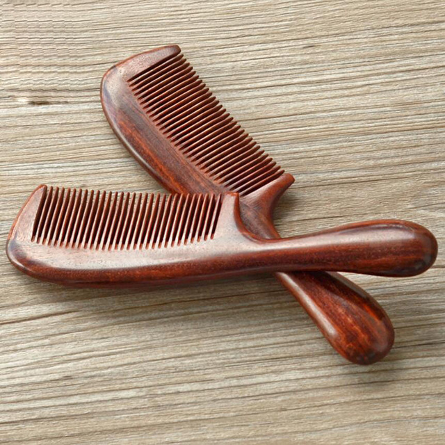 3pcs Manufacturers Whole Round Handle Blood Sandalwood Comb Long Hair Health Mage Head