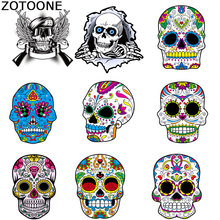 ZOTOONE Creative Personality Skull Garment Patches Childrens Clothes Ironing Sticke Paper Grade A Water-washable Offset