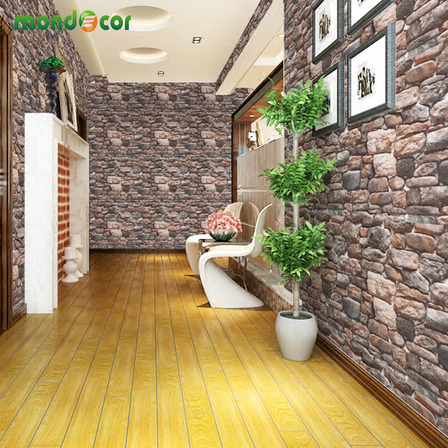 3D Brick Stone Self Adhesive Wallpaper Kitchen Bathroom PVC Waterproof Wallpaper Brick Wall For Bedroom Living Room Wall Decor