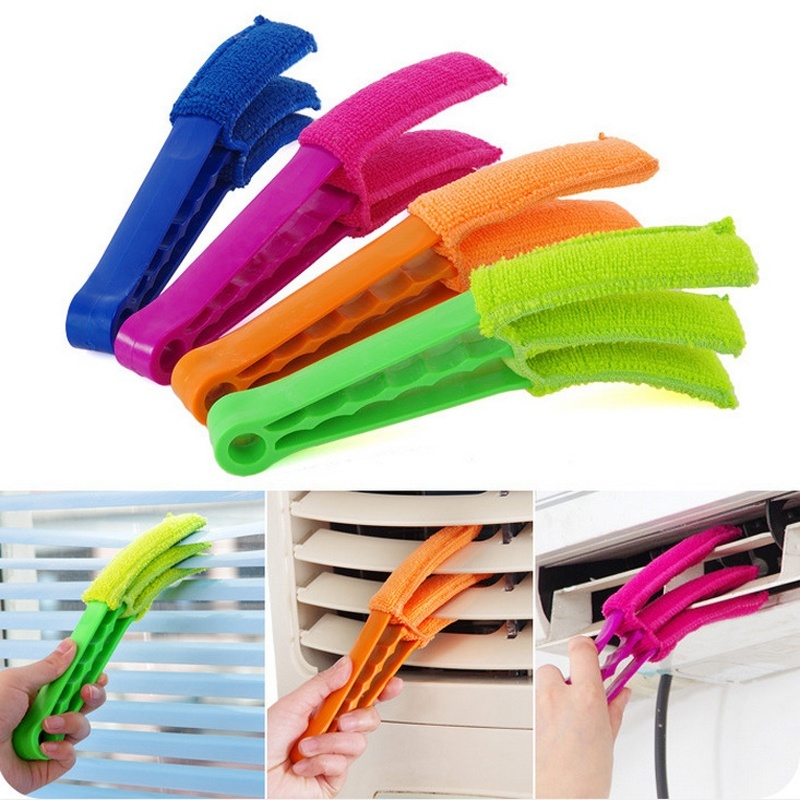 1 pcs High quality Window Air Conditioner Duster Dirt Clean Cleaner Microfibre Venetian Blind Washable Brush Accessories