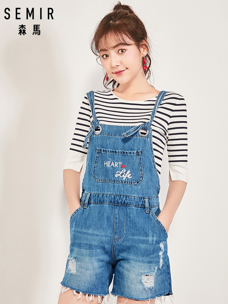 Humor Semir Elegant Sexy Jumpsuits Women Sleeveless Jumpsuit Loose Trousers Wide Leg Pants Rompers Holiday Leotard Overalls Online Discount