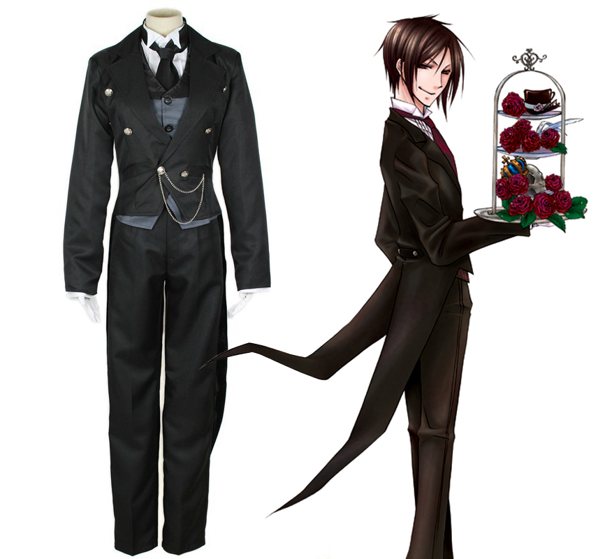 Aliexpress.com  Buy KIGUCOS Black Butler Sebastian Michaelis The Anime Cosplay Costume Tailcoat ...