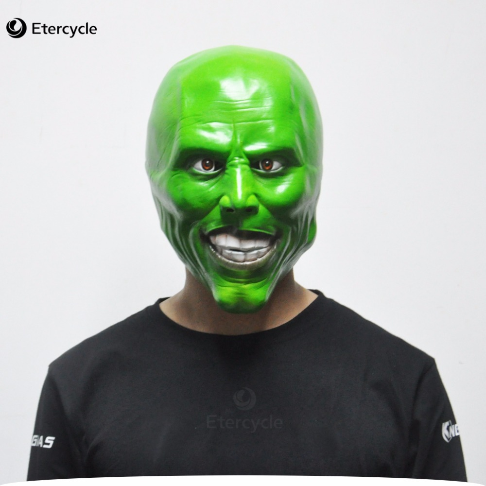 The Mask Jim Carrey Masks Halloween Adult Latex Mask Movie Cosplay Toy Props Party Fancy Dress
