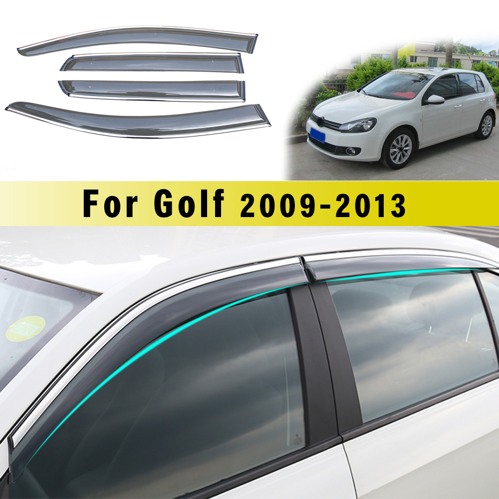 MyHung For Volkswagen Golf 6 2009-2013 Car Sun Visor Window Visor Rain Shade for Car Window Plastic Visor Accessories  4PCs