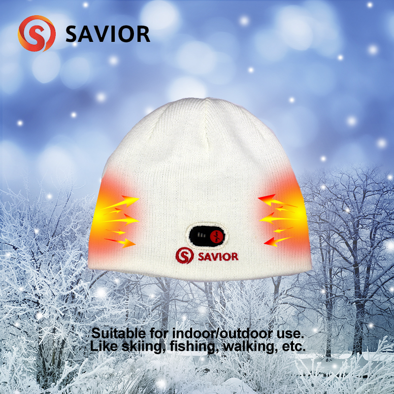 Savior Winter Outdoor Warm Cycling Caps Electric Battery Heated Hat Skullies Beanies 3 levels control Thermal Hats Unisex new fashion women s winter hat knitted wool beanies female fashion skullies casual outdoor ski caps warm thick hats for women