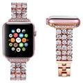 36 бриллиантами роскошный украшенный алмазами женские Ремешки для наручных часов для Apple Watch iWatch 1/2/3/4 Стразы Нержавеющаясталь 38/40/42/44 мм брас...