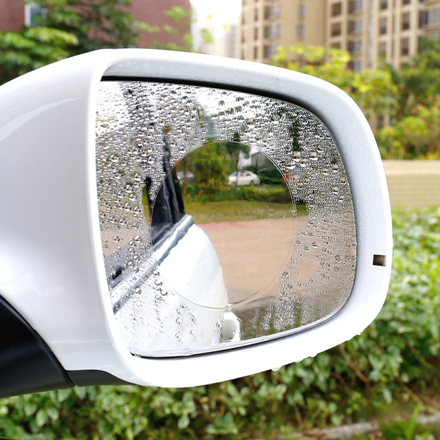 2Pcs/Pair Car Waterproof Protective Film Anti Water Mist Film Anti Fog Coating Rainproof Rearview Mirror Window