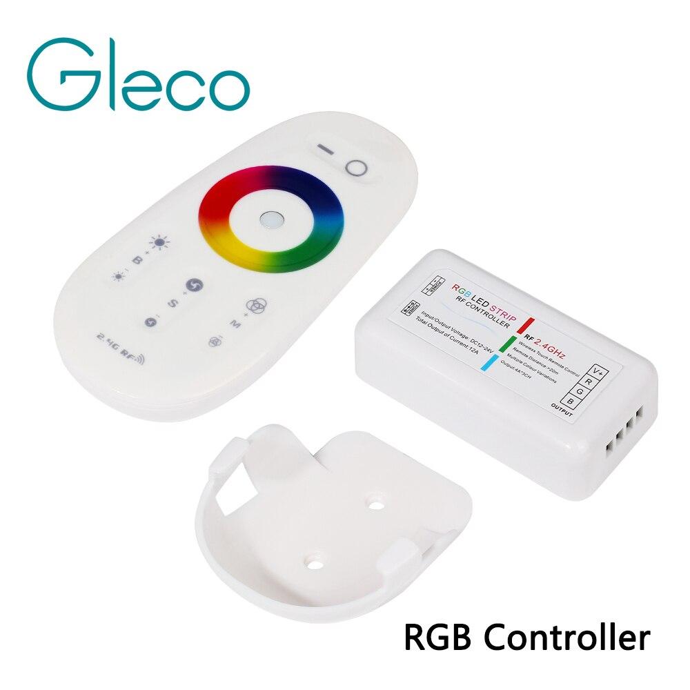 RF 2.4g RGB rgbw LED strip controlador RGB controlador remoto inalámbrico RF con el mando a distancia titular para LED tira 5050