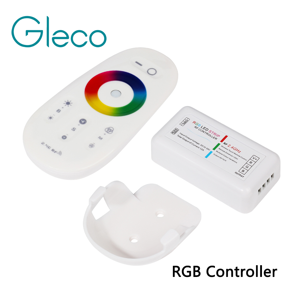 RF 2,4g RGB RGBW Controller Led-streifen RGB Controller Wireless RF Remote Controller Mit Remote-Wand Halter für LED streifen 5050
