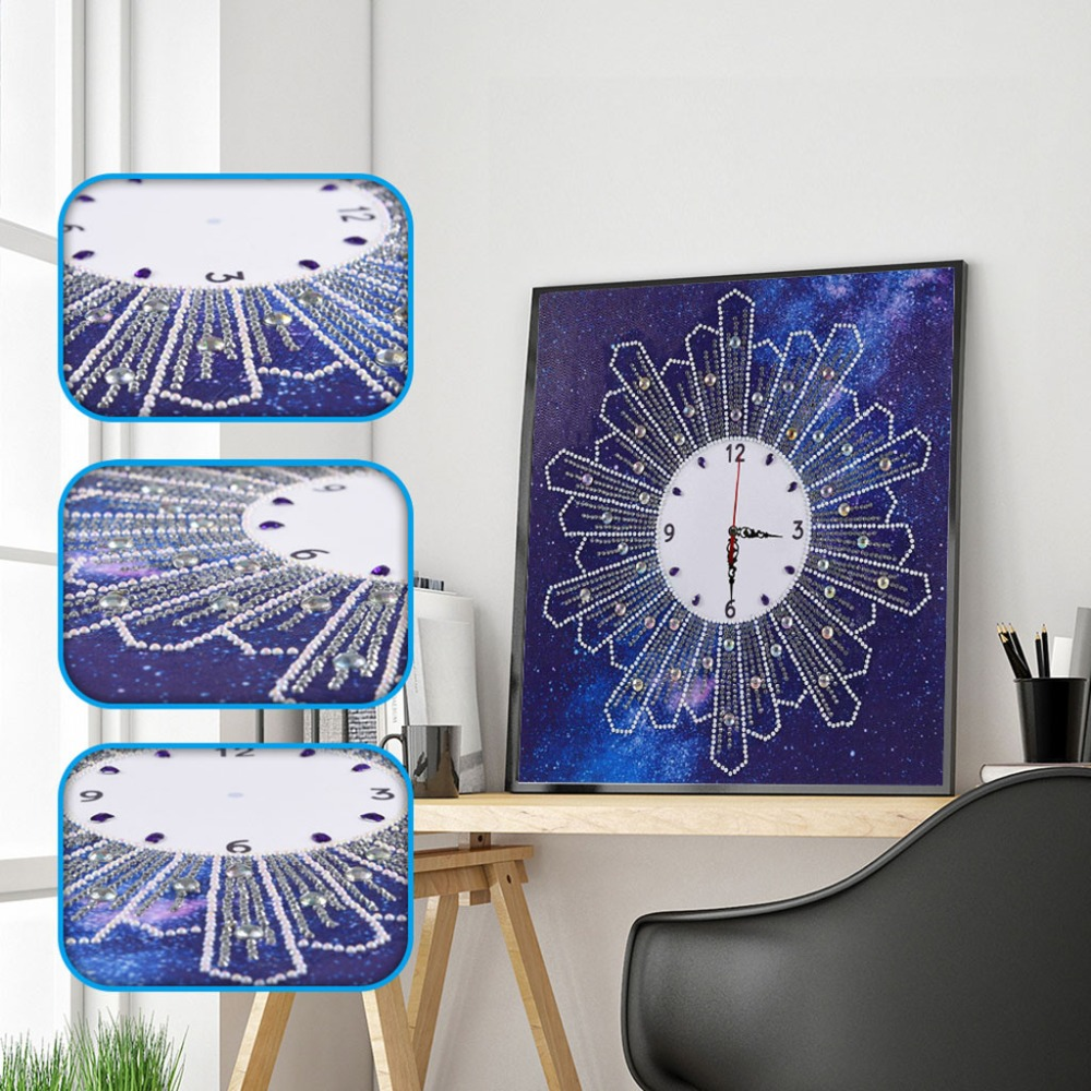 5D DIY Special shaped Diamond Painting Cross Stitch Wall Clock Diamond Embroidery Crafts Decor Canvas Ture Clock New Arrival Q4
