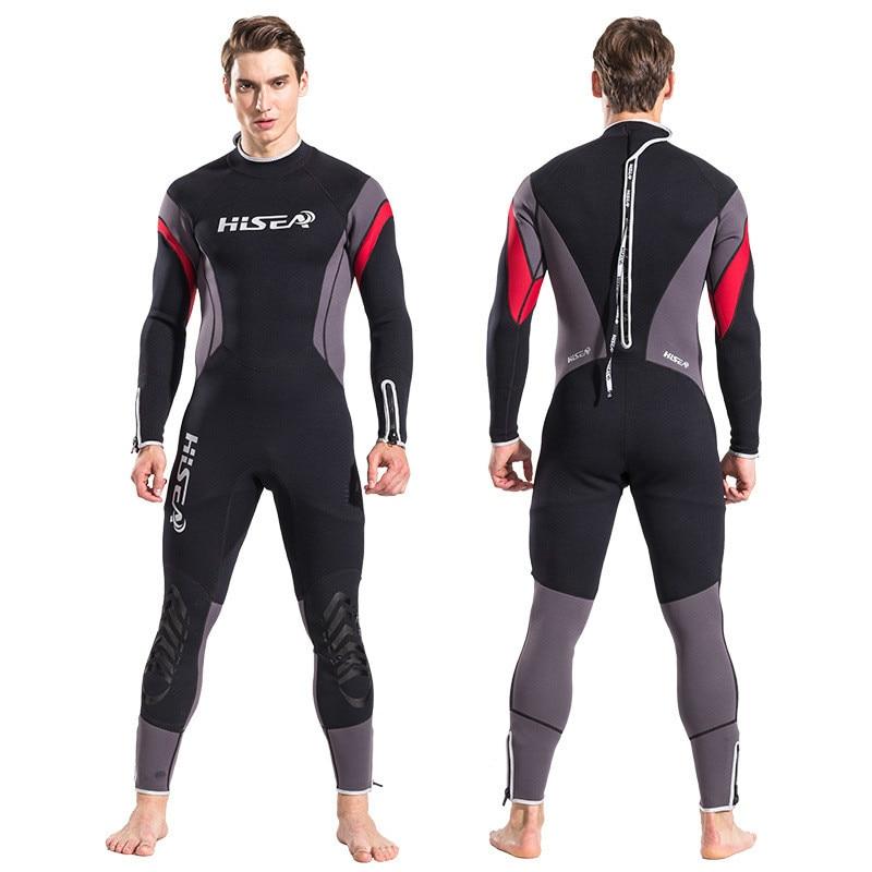 Latest Hisea Scuba Diving Suit Men 2.5mm Neoprene Diving Suit Swimming Wetsuit Surf Triathlon One piece diving suit for men