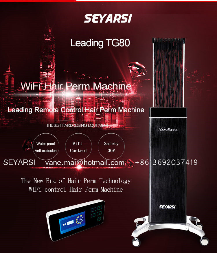 Remote controlled hair perm machine, Leading Edge Version, Digital hair perm machine, hot perm machine TG80 Color black hot sale mini hair curling machine hair perming machine apple shape 24v output color black