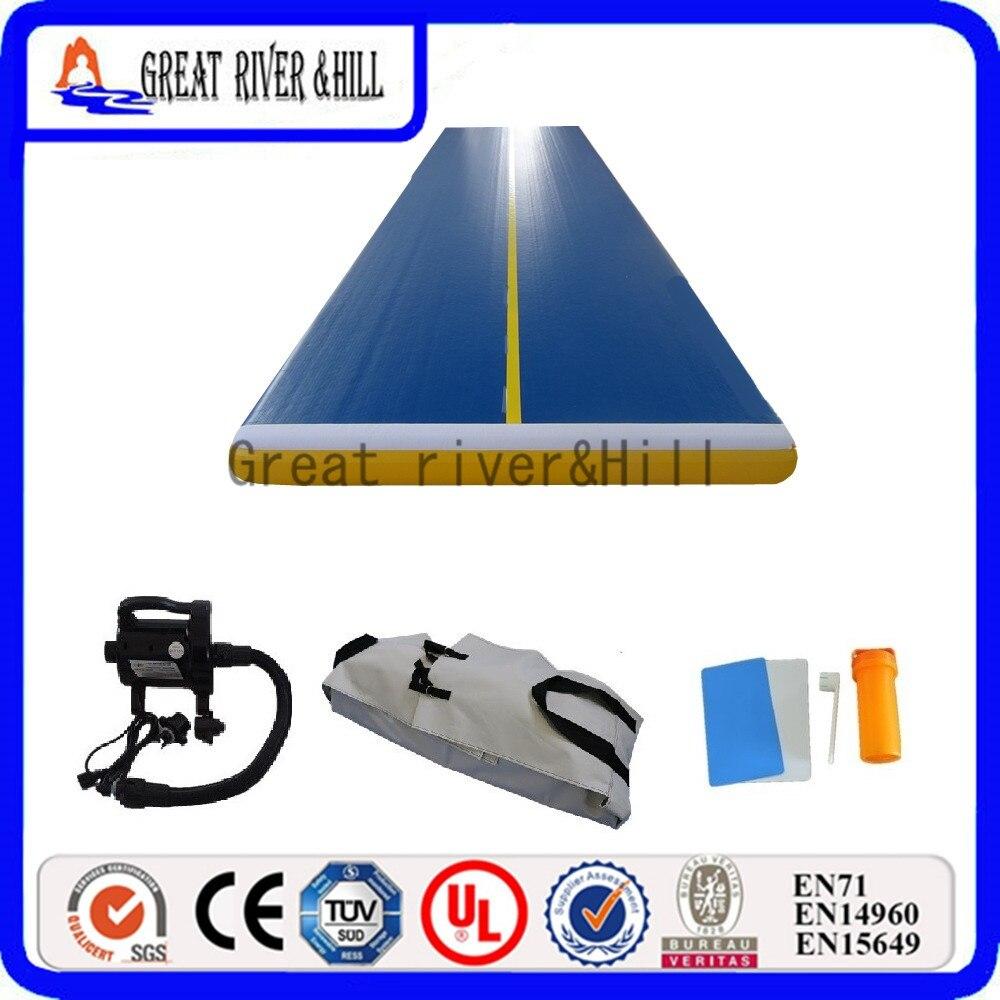 Great river hill gym mat inflatable air track good air tightness 12m x 2m x 20cm
