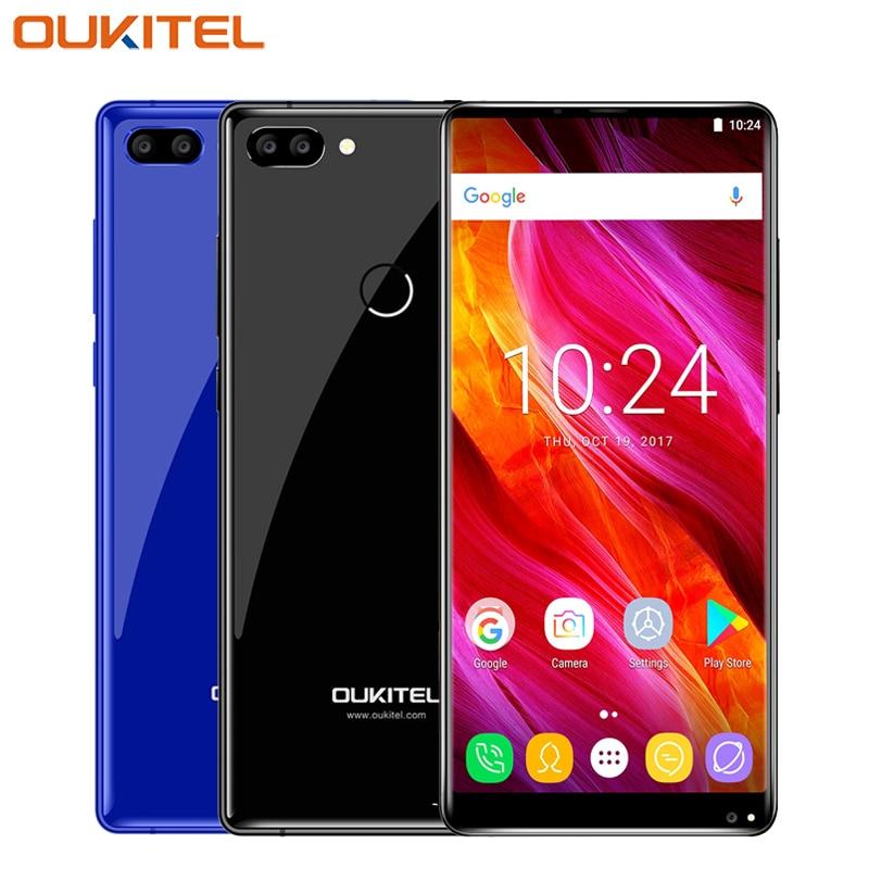 Оригинальный Oukitel Mix 2 Сотовый телефон 5.99 дюймов 6 ГБ Оперативная память 64 ГБ Встроенная память HelioP25 Octa core android 7.0 Dual сзади Камера 4080 мАч смартф…