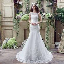 f62d2acc2d8 Sexy Mermaid Wedding Dress Real Photo Lace China Wedding Dress Bridal Gown( China)