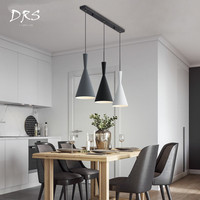 Modern Stage Dining Room Loft Hanging Lamp Luminaire Iron LED Lamps Nordic Creative Pendent Lights Lustre Suspension Fixture