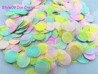 1 kg/lote 1 polegadas (2.5 cm) de Creme de Gelo Estilo Círculo Pontos Jogando Confete De Papel Do Casamento Do Evento do Tecido Do Bebê Decorações do chuveiro