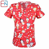 Hennar 5 DESIGNS IN Hennar Brand Medical Scrub Tops Surgical Scrubs Scrub Uniform 100 Print Cotton