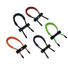 Compound Bow Sling Adjustable Wrist Braided Rope and Metal Parachute Cord Hunting Archery Strap 5 colors