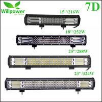 15''18''20''23''216W 252W 288W 324W Tri Row LED Light Bar Combo Beam For Offroad Work Light 4WD 4x4 Drive LED Bar Camper Trailer