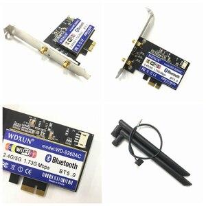 Image 5 - デュアルバンドデスクトップ PCI E 1X ワイヤレス AC 9260 インテル 9260NGW 802.11ac 5 2.4ghz 1.73 5gbps WiFi Bluetooth 5.0 ゲーム windows 用の 10