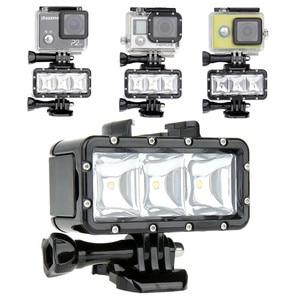 Lightdow Diving LED Light Underwater Video Light Lamp + One Battery + Buckle Mount For Gopro Hero 6 5 4 3+ SJCAM XiaoYi