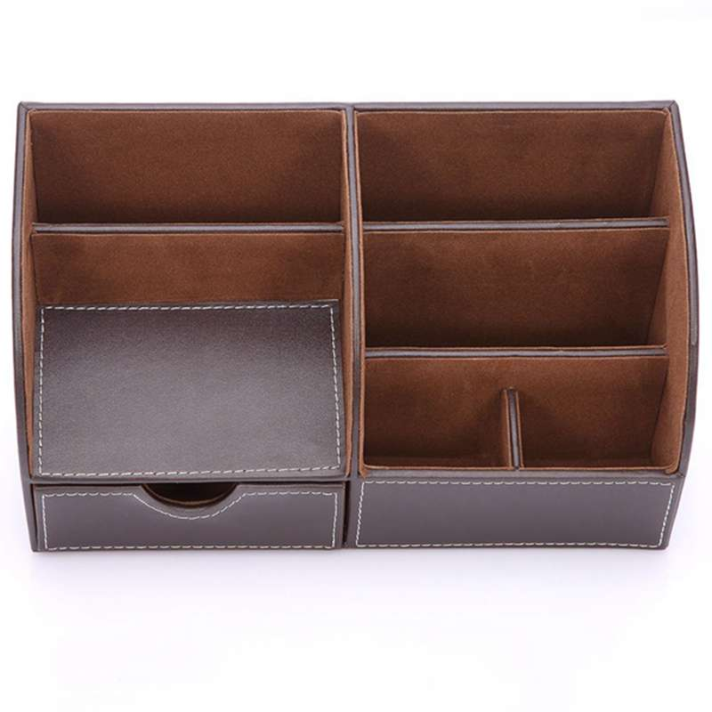 7 Storage Compartments Multifunctional PU Leather Office Desk Organizer,Business Card/Pen/Pencil/Mobile Phone /Remote Control 7 Storage Compartments Multifunctional PU Leather Office Desk Organizer,Business Card/Pen/Pencil/Mobile Phone /Remote Control