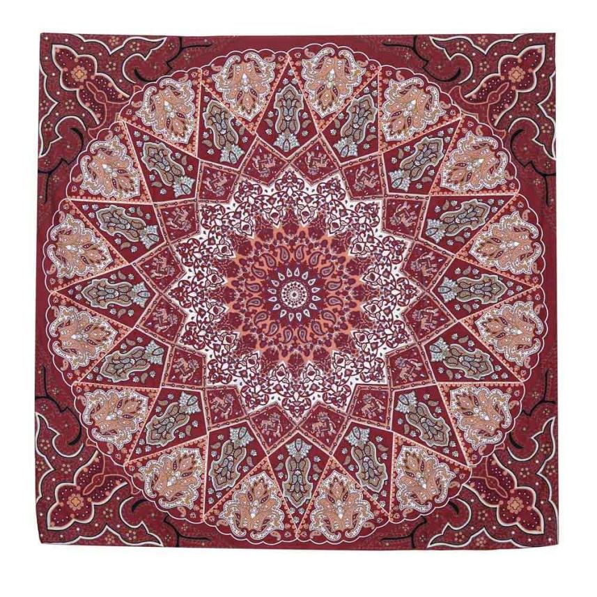 New Qualified Hot Sell Hippie Psychedelic Tapestry Mandala Bedspread Decor Yoga Mat Beach Cover Up dig683