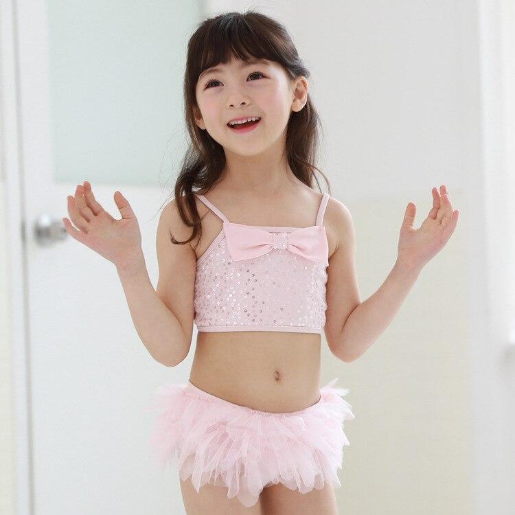 EMS DHL Free Shipping NEW Kids Stylish Baby Girls Pink Rhinestone Separated beachwear bath suit Swim hat Swimwear