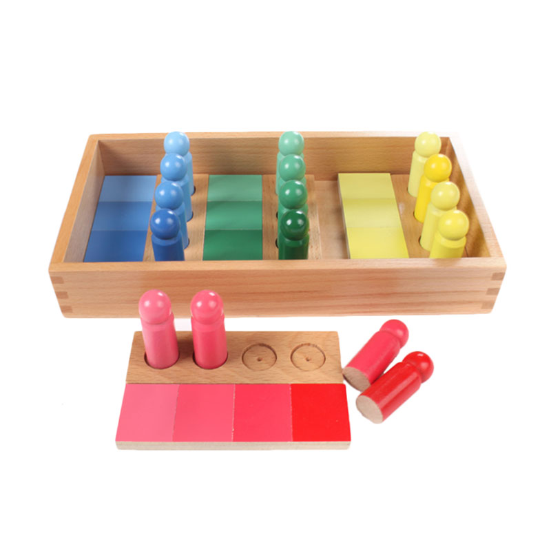 Wooden Montessori Toys Baby Color Matching Box Preschool ...