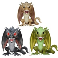 Funko Pop Game of Trones Figure Drogon DROGON VISERION RHAEGAL Action Figure Toys PVC Model Fans Collectible Dolls Free Shipping