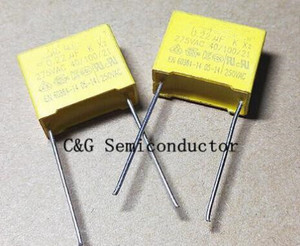 10PCS MKP 275V 0.22UF 224K 220NF P=15MM X2 Safety capacitor(China)