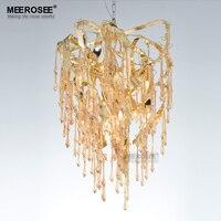 New Chandelier Light Fixture Modern Glass Chandelier Suspension Lamp Lamparas Aluminum Drop Lustre for Living Dining room