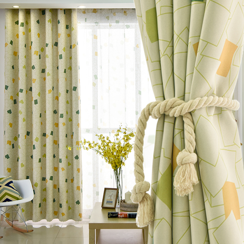 Pastoral printed diamonds curtains for children bedroom - Childrens bedroom blackout curtains ...